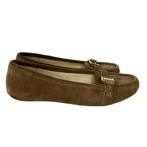 Michael By Michael Kors Tan Brown Suede Loafers